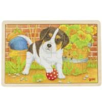 Goki - Einlegepuzzle Kleiner Hund
