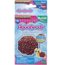 Aquabeads - Refill - Glitzerperlen, braun