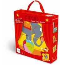 Scratch - Zirkus Puzzle und Kugelbahn, 2in1