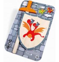 Scratch - Schwert und Schild Roter Drache