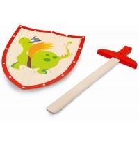 Scratch - Schwert und Schild Grüner Drache