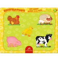 Die Spiegelburg - Fühlpuzzle Bauernhoftiere, 5 Teile
