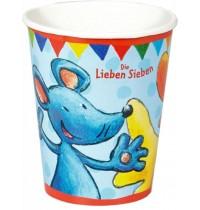 Die Spiegelburg -  Partybecher Die Lieben Sieben (8 Stück)