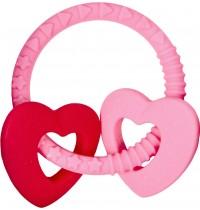 Die Spiegelburg - Beißring Baby Glück, rosa (mit 2 Herzen)