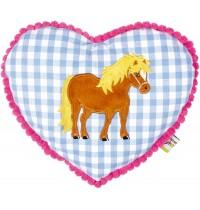 Die Spiegelburg - Kuschelkissen Mein kleiner Ponyhof, blau