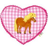 Die Spiegelburg - Kuschelkissen Mein kleiner Ponyhof, rosa