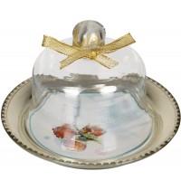 Die Spiegelburg - Glasglocke mit Teller Aschenbrödel