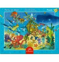 Die Spiegelburg - Rahmenpuzzle Party im Meer, 24 Teile