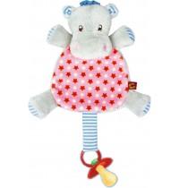 Die Spiegelburg - Schnullertuch Hippo BabyGlück, rosa