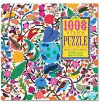 eeBoo - Puzzle - Vögel und Blumen 1008 Teile