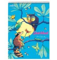 eeBoo - Sketchbook, Eule und Waschbär