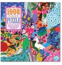eeBoo - Puzzle - Pfauengarten, 1008 Teile