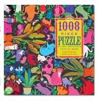 eeBoo - Puzzle - Katzen bei der Arbeit 1008 Teile