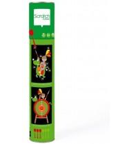 Scratch - Dartspiel Ritter/Dino, gross,magnetisch