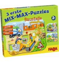 HABA® - 3 erste Mix-Max-Puzzles - Baustelle