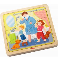 HABA® - Holzpuzzle - Mein Tag, 22 Teile