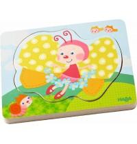 HABA® - Holzpuzzle - Schmetterlingszauber, 4 Teile