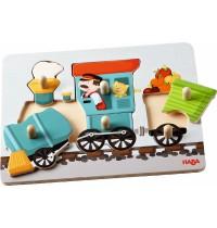 HABA® - Greifpuzzle Eisenbahn, 6 Teile