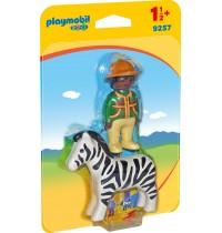 Playmobil® 9257 - 1.2.3. - Ranger mit Zebra