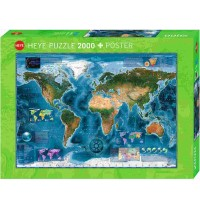 Heye - Standardpuzzles - Satellite Map Standard, 2000 Teile