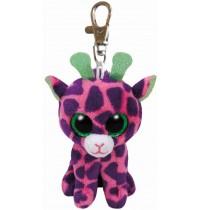 Ty Plüsch - Beanie Boos Glubschis Clip - Gilbert, Giraffe pink/lila 8.5cm