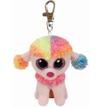 Ty Plüsch - Beanie Boos Glubschis Clip - Rainbow, Pudel multicolor 8.5cm