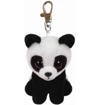 Ty Plüsch - Beanie Babies Clip - Baboo, Panda 8.5cm