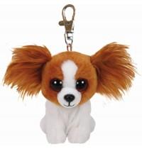 Ty Plüsch - Beanie Babies Clip - Barks, Hund braun 8.5cm