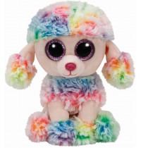 Ty Plüsch - Beanie Boos Glubschis - Pudel multicolor Rainbow,15cm