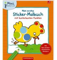 Coppenrath Verlag - Mein erstes Sticker-Malbuch mit kunterbunten Punkten