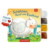 Coppenrath Verlag - Mein Fühl-Laschenbuch: Schäfchen, Hund und Eselkind