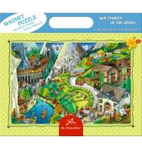 Die Spiegelburg - Magnetpuzzle Wir fahren in die Berge, 30 Teile