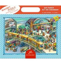 Die Spiegelburg - Magnetpuzzle Wir fahren mit der Eisenbahn, 30 Teile