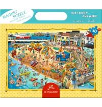 Die Spiegelburg - Magnetpuzzle Wir fahren ans Meer, 30 Teile