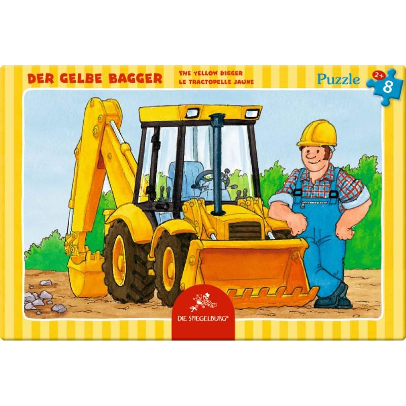 Die Spiegelburg - Kleines Rahmenpuzzle Der gelbe Bagger, 8 ...