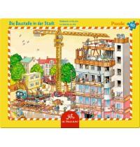 Die Spiegelburg - Rahmenpuzzle Die Baustelle in der Stadt, 40 Teile