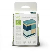 Tegu - Magnetisches Holzset blau, 8-teilig im Beutel