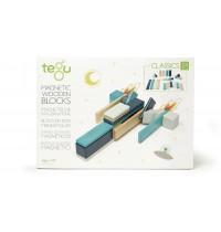 Tegu - Magnetisches Holzset blau, 24 Teile