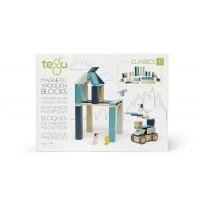 Tegu - Magnetisches Holzset blau, 42 Teile