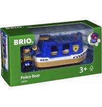 BRIO Bahn - Polizeiboot mit Licht und Sound