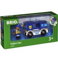 BRIO Bahn - Polizeiwagen mit Licht und Sound