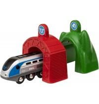 BRIO Bahn - Smart Tech Zug mit Action Tunnels