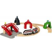 BRIO Bahn - Großes Smart Tech Reisezug Set mit Action Tunnels