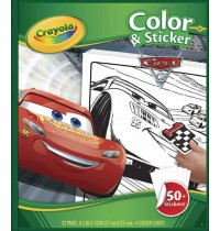 Crayola - Cars 3 - Color & Stickerbook