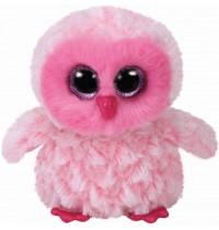 Ty Plüsch - Beanie Boos Glubschis - Eule Twiggy, pink/weiss 15cm