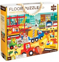 Petit Collage - Floor Puzzle Baustelle 24 Teile