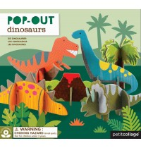 Petit Collage - Pop Out Dinosaurier