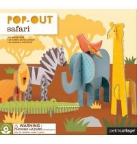 Petit Collage - Pop Out Safari