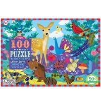 eeBoo - Puzzle, Leben auf der Erde 100 Teile