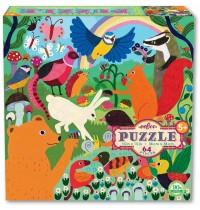 eeBoo - Puzzle, Wiesentiere 64 Teile